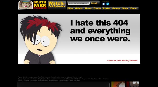 ERROR    South Park Studios