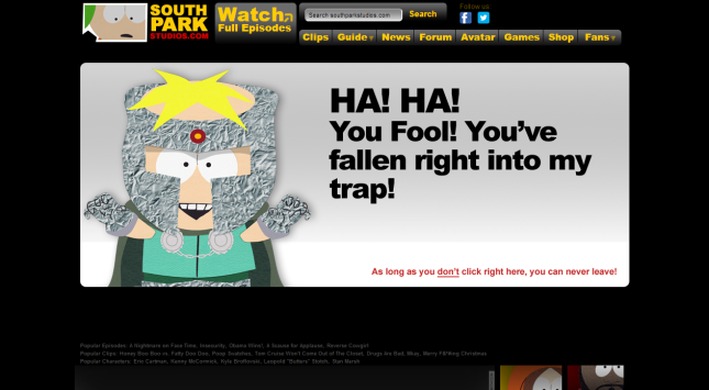 Error   South Park Studios2