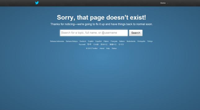 ERROR Twitter